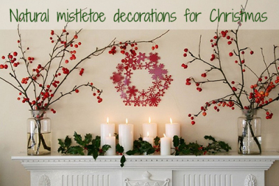 Natural decorations for Christmas