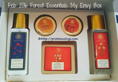 My Envy Box Feb 2016 - Forest Essentials Special