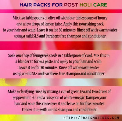 Skin and hair care tips for Holi