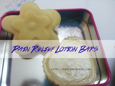 DIY Pain lotion bars with Cinnamon and clove1