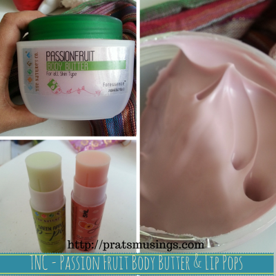 Passion Fruit Body Butter and Lip Pops