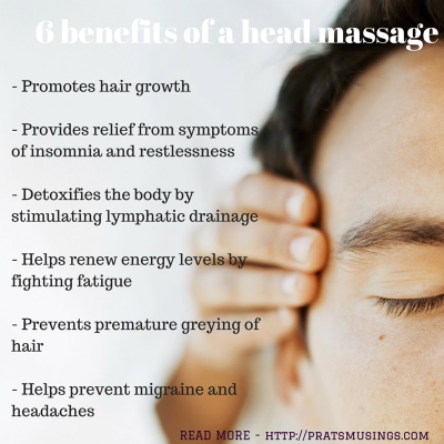 Benefits of a head massage
