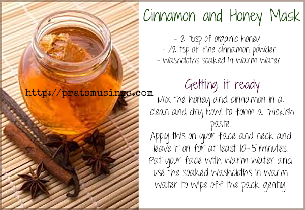 Cinnamon and honey mask for a Combination Skin